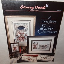 Visit from Father Christmas Cross Stitch Leaflet 109 Stoney Creek Santa ... - $10.99