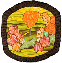 Alien Garden: Quilted Art Wall Hanging - $410.00