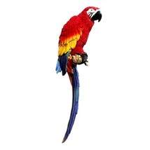 Mediterranean Home Decoration Parrot Wall Hanging   middle   red - $36.58