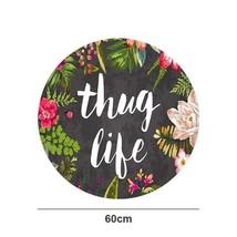 Thug Life Series Printed Round Area Rug Doormat Entrance Mat Floor Mat C... - $13.60