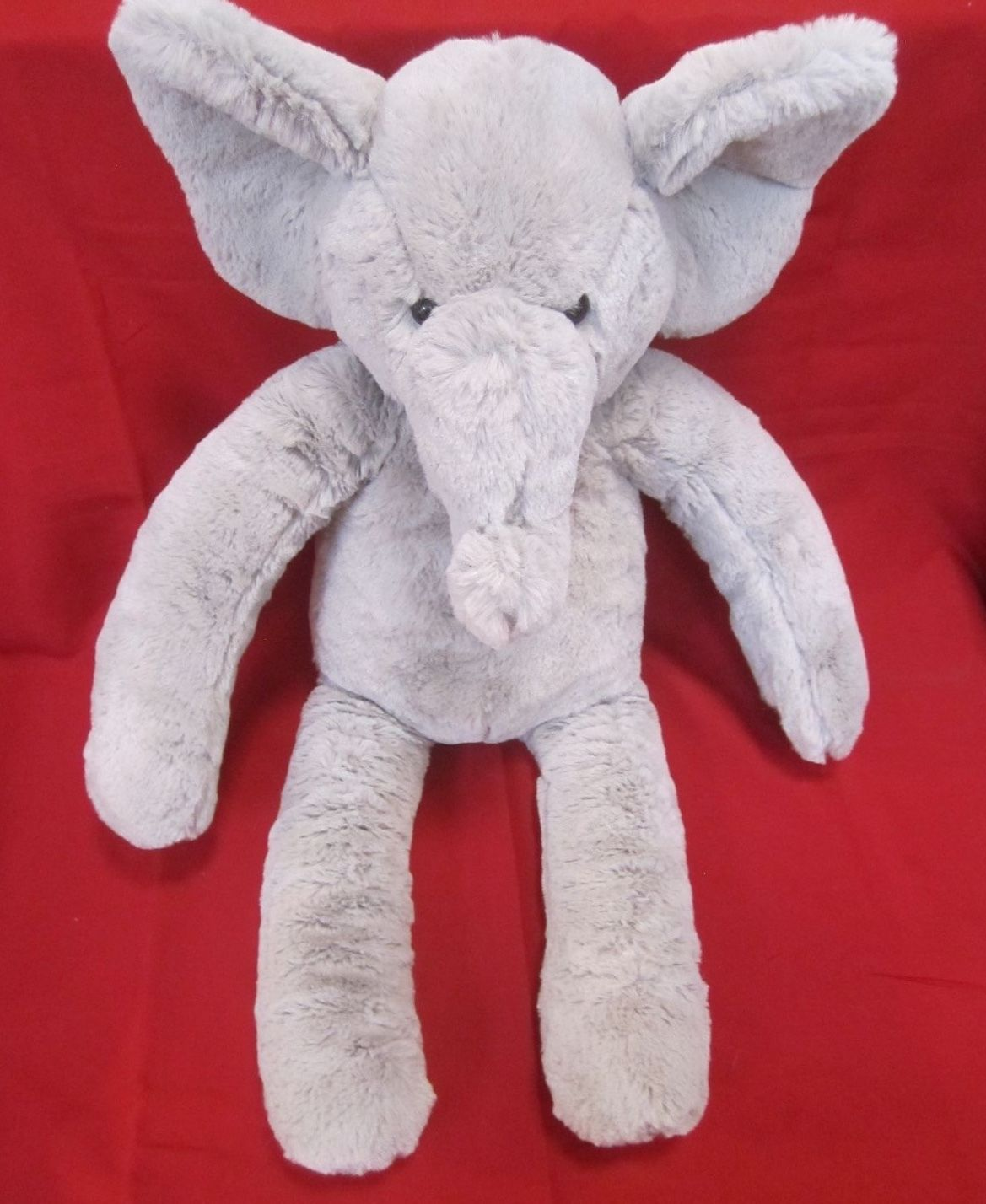 "Primary image for Pottery Barn Kids Plush Elephant Gray approx. 20"" tall soft PBK stuffed toy grey"