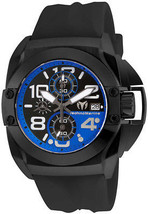 TechnoMarine Mens Black Reef Watch TM-515016 Stainless Steel  - $229.99