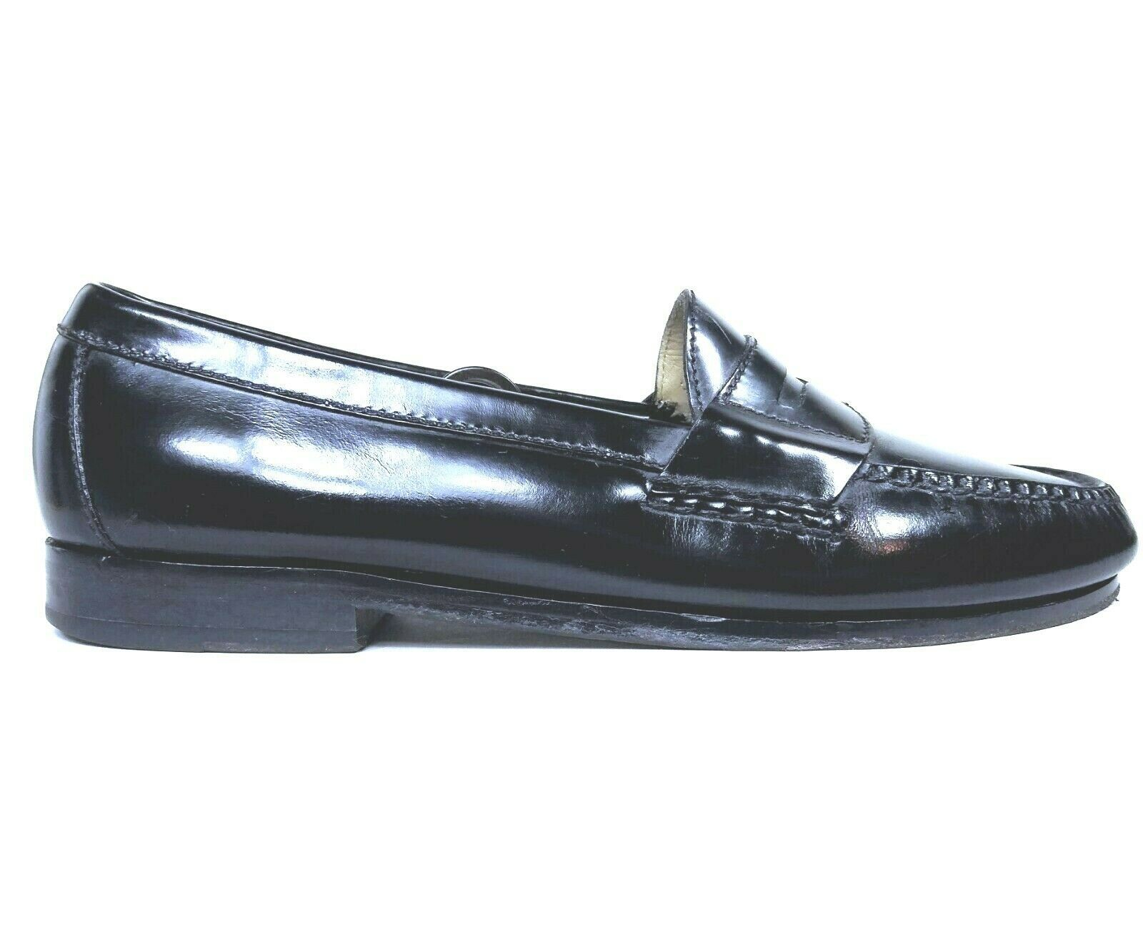Cole Haan Mens Black Moc Toe Pinch Penny Leather Loafer Slip-on Shoes Size 9.5