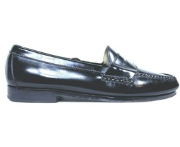 Cole Haan Mens Black Moc Toe Pinch Penny Leather Loafer Slip-on Shoes Si... - $23.75