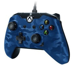 Performance Designed Products Xbox One Wired Controller Blue Camo Sleek ... - $20.21