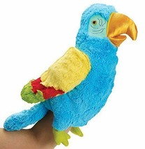Manhattan Toy Tropicanas Parker Parrot Bright Blue Plush Hand Puppet Pla... - $12.16