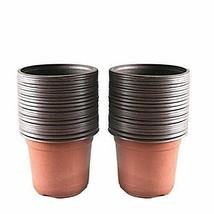 """100 Pcs 4"""" Plant Pots Garden Nursery Plastic Flower Pot Containers Small... - €15,35 EUR"""