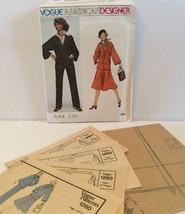 Vogue Sewing Pattern 1260 Vtg Anne Klein 8 Top Pants Skirt Shirt Scarf L... - $11.32
