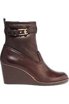 Tory Burch Primrose Wedge Bootie 75MM Coconut Brown Size 7.5 - $391.05