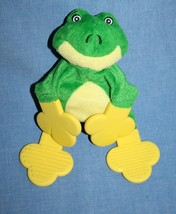"Munchkin FROG S LEGGET 9"" Baby Teether Rattle Babies Plush Green Yellow ... - $12.06"