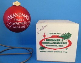 Bonner's Christmas Wonderland Red Glass Ball Grandma Ornament - $10.39