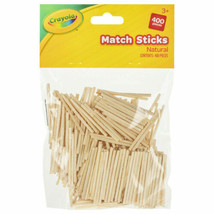 Children Kids Art Craft Pack of 400 Crayola Natural Match Sticks - $3.51