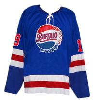 Any Name Number Buffalo Bisons Retro Hockey Jersey Blue Any Size image 4