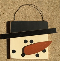 Primitive Wood 74095 Snowman Face - $4.95