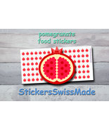 pomegranate   planner stickers   food icon   for planner and bullet journal - $3.00+