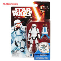 "Hasbro Star Wars W1 Force Awakens 3.75"" # First Order Stormtrooper Actio... - $12.99"