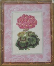 Bucilla Anna Griffin Sunshine's Geranium Flower Counted Cross Stitch Kit 8 x 10 - $16.99