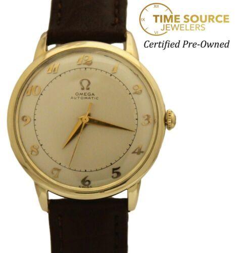 Omega Bumper Automatic Gold Filled Original Silver Dial 32mm Circa 1950s Watch