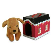 "Beverly Hills Teddy Bear 7"" Plush Tan Santa Paws with House - $18.80"