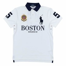 Polo Ralph Lauren Mens Custom Slim Fit Mesh City Polo Shirt,White, XL 3011-6 - $80.18