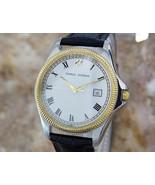 Mens Charles Jourdan 35mm Gold-Plated & SS Quartz Dress Watch, c.1990s Y62 - $610.62
