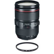 CANON EF 24-105mm F4L IS II USM (White Box) + HOYA UX UV 77mm Filter - $1,005.71