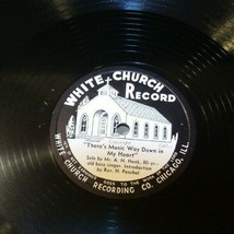 White Church Record  # 1087 AA-191720C Vintage Collectible image 1