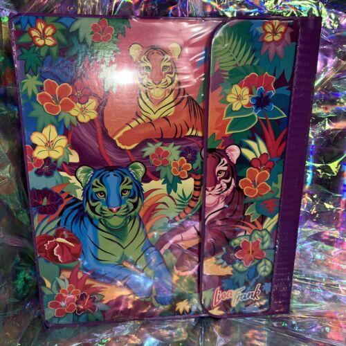 EUC RARE VINTAGE Lisa Frank 3 Ring Trapper Keeper Binder Rainbow Tiger Trio 90s