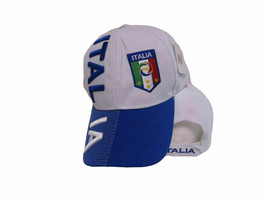 Cappellino Italy Italian Hat Italia Country Letter Flag Blue/White Embro... - $15.83