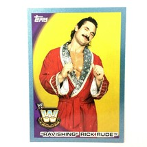 "WWE ""Ravashing"" Rick Rude 2010 Topps Card #108 Blue Serial Numbered Parallel  - $2.92"