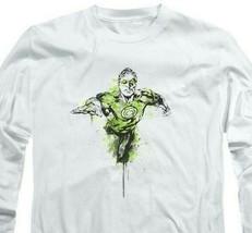 Green Lantern Color Splash DC Comics Retro long sleeve adult graphic tee GL312 image 2
