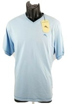 $49.50 TOMMY BAHAMA Men's Blue V-Neck Cotton T- Shirt Size Small S Marlin Logo - $32.80