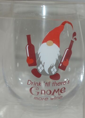 GANZ EX30173 The Stupendous Stemless Wine Glass Gnome 32 Oz