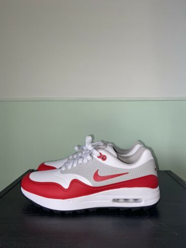 Nike Air Max 1 G White University Red Golf Shoes AQ0863-100 Size 10.5