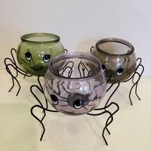 Spider Planter with Succulent, Halloween Pot, Sempervivum, Hens and Chicks image 2