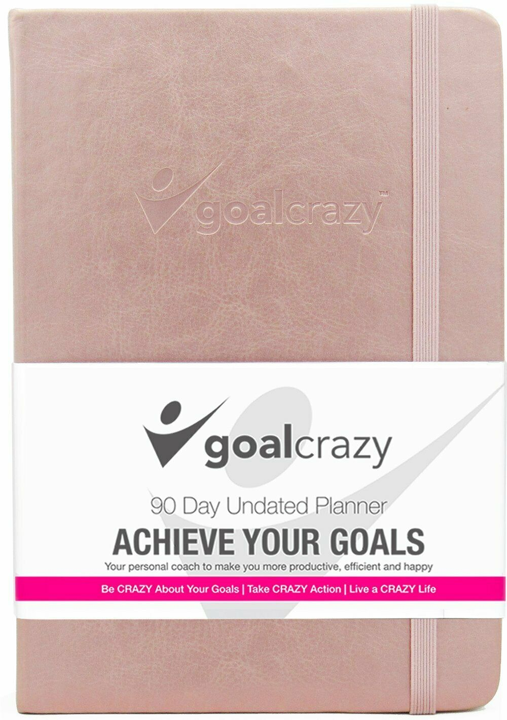 Goal Crazy 2019 Planner - 90 Day Productivity Journal, Black Leather, Undated image 12