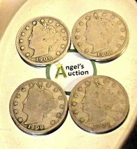 Liberty Head Nickel Five-Cent Pieces 1906 - 1909 AA20-CNN2137 Antique image 8