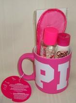 Victoria Secret PINK Coco Sugar Spice Gift Set Mug, Mist, Lotion, Face Mask NEW - $35.63
