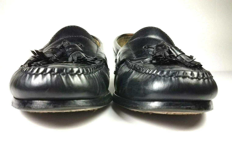 COLE HAAN Men's Loafers 9 D Leather Black Pinch Tassel Slip On Dress Shoes image 5