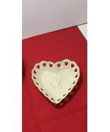 Lenox China Pierced Candy Dish for Valentines Day Vintage Made in USA - $14.95