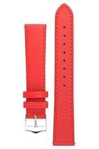 Signature Seasons in red 14 mm watch band. Replacement watch strap. Genuine leat - $36.73