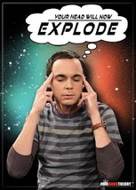 The Big Bang Theory Sheldon Saying Your Head Will Now Explode Magnet, NE... - $3.99