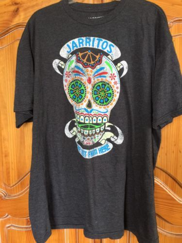 "JARRITOS ""WE'RE NOT FROM HERE""  ~ Men's Graphic Tee T-SHIRT XXL Gray"