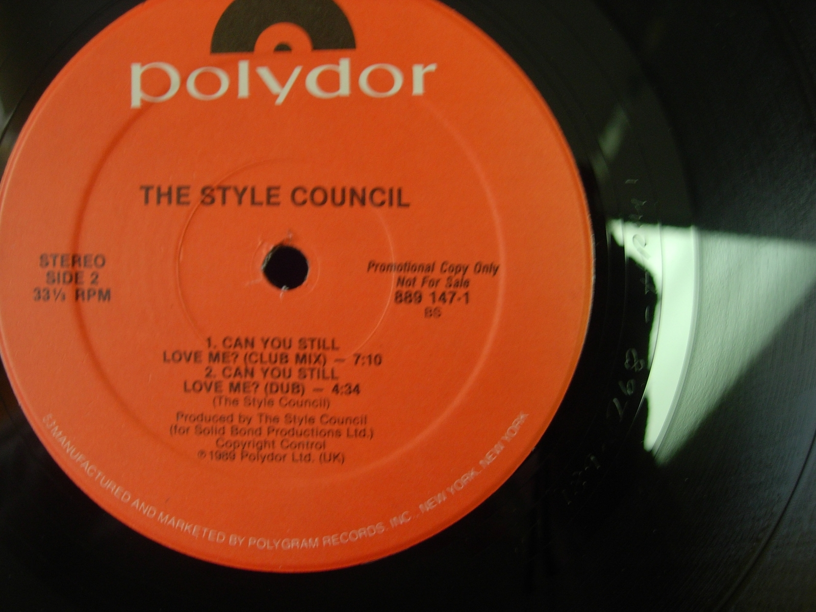 """The Style Council - Promised Land - Polydor 889 147-1 - PROMO - 12"""" single"""