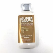 Bath & Body Works Warm Vanilla Sugar Super Smooth Body Lotion 24 Hr Mois... - $7.91