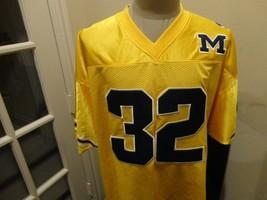 Vtg 90's Yellow MIchigan Wolverines #32 NCAA Sewn Colosseum Football Jer... - $39.55