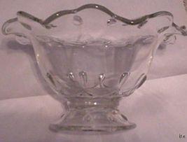 Large Indiana Glass Scalloped Edge Teardrop Foo... - $29.99