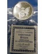 Anonymous Bitcoin Owl(Limited Edition of 3000) One Troy Ounce Silver Pro... - $44.99