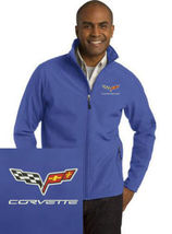 Corvette Royal Blue Embroidered Port Authority Core Soft Shell Unisex Ja... - $39.99