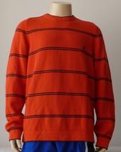 NAUTICA Orange Sweater Blue Crew Neck NWT Medium  - $21.77